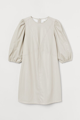 H&M Faux Leather Dress - Beige