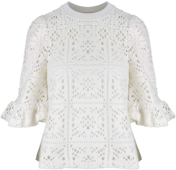 See by Chloe Crochet Knit Blouse