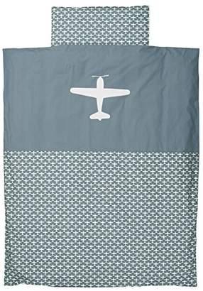 Camilla And Marc Taftan Blue Background Duvet Cover, 100 x 135 cm, Airplane