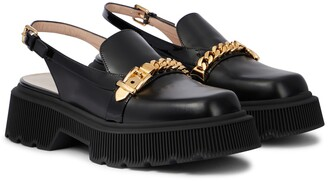 Gucci Leather slingback loafers