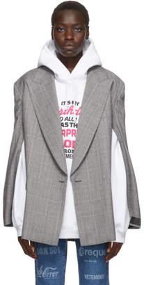 Vetements Grey Open Sleeve Blazer