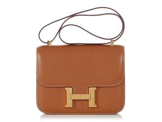 Hermes Constance Camel Leather Handbags