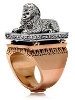 Per Crucem Ad Lucem Sphinx Ring