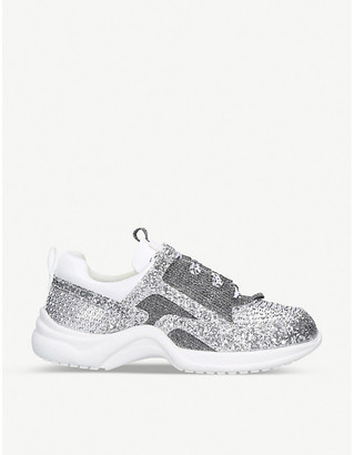KG by Kurt Geiger Mini Lunar glitter-embellished trainers 7-10 years