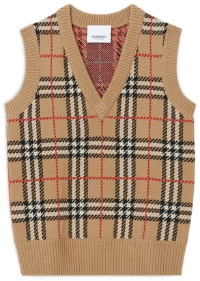 Burberry Kids Vintage Check Knit Tank Top (3-12 Years)