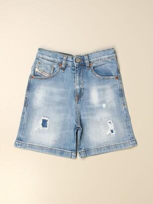 Diesel Shorts In 5-pocket Denim