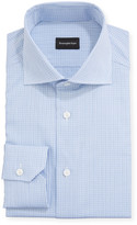 Ermenegildo Zegna Men's Textured Check Dress Shirt