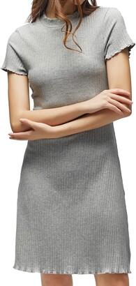 FanXinXing Women's Casual T Shirt Dresses Short Sleeve Slim Fit Cotton Midi Dresses M-Navy Blue