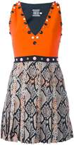 Fausto Puglisi embellished snakeskin effect dress