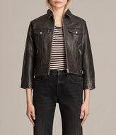 AllSaints Veder Leather Jacket