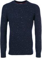 Brunello Cucinelli speckled crew neck jumper - men - Polyamide/Cashmere/Wool - 48