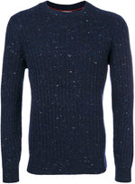 Brunello Cucinelli speckled crew neck jumper