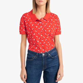 Tommy Jeans Cotton Polo Floral Print with Short Sleeves