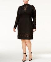 Rachel Roy Trendy Plus Size Lace-Inset Bodycon Dress