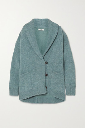 Etoile Isabel Marant Malhone Oversized Wool And Cotton-blend Cardigan - Blue