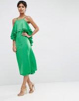 Asos Ruffle Back Midi Dress