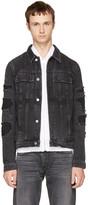 Helmut Lang Black Mr 87 Denim Jacket