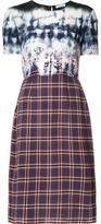 Altuzarra tie dye check fitted dress