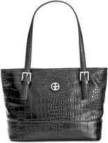 Giani Bernini Croc-Embossed Tote, Only at Macy's
