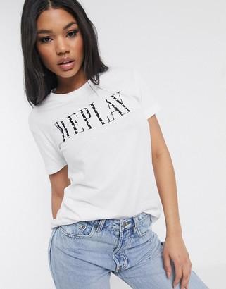 Replay logo shirt-White