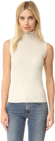 525 America Variegated Rib Sleeveless Turtleneck Sweater