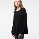 Paul Smith Women's Black Button-Back Merino Wool Sweater
