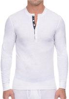 2xist Men's Tartan-Placket Tech Henley Shirt