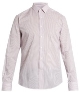 Lanvin Spread-collar single-cuff pinstriped cotton shirt