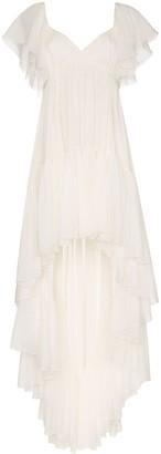 Giambattista Valli Draped Ruffled Dress