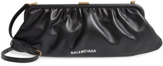 Balenciaga Extra Large Cloud Leather Clutch