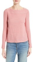 Rebecca Taylor Women's Stripe Cotton Jersey Top