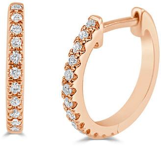 Sabrina Designs 14K Rose Gold 0.10 Ct. Tw. Diamond Huggie Earrings