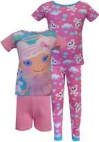 AME Sleepwear Lalaloopsy Cloud E. Sky & Puffy Poodle 4 Piece PJ Set for Big Girls