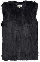 Hartford Vizir Knit Fur Gilet in Black