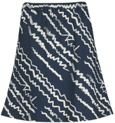 Karl Lagerfeld Women's Jacquard Scribble Skirt Blue