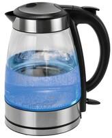 Kalorik Glass Water Kettle - Black/Stainless Steel