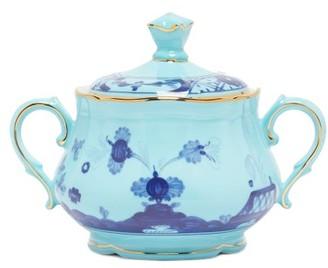 Ginori 1735 - Oriente Italiano Porcelain Sugar Bowl - Blue Multi