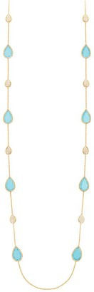 Boucheron Yellow Gold, Diamond and Turquoise Serpent Boheme Necklace