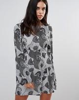 Love Monochrome Print Smock Dress