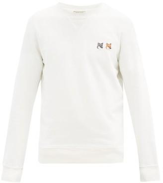 MAISON KITSUNÉ Double Fox Head-patch Cotton Sweatshirt - Cream