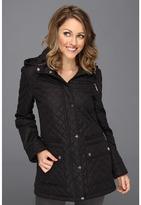 Calvin Klein Zip Front Barn Quilt Jacket CW323508 (Black) - Apparel
