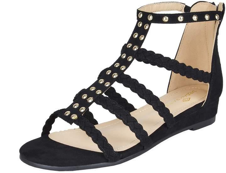 305205ea67 Wedge Sling Back Sandals Black - ShopStyle Canada