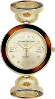 Charter Club Women's Tortoise and Gold-Tone Circle Link Bracelet 32mm