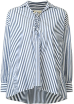Nili Lotan Striped Shiloh V-Neck Shirt