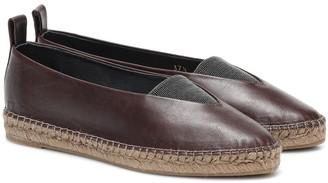 Brunello Cucinelli Leather espadrilles