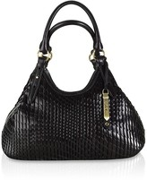 Eve Woven Leather Triangle Tote