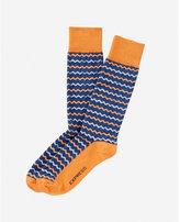 Express zigzag print dress socks