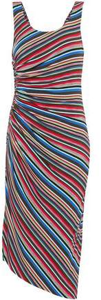 Bailey 44 Aruba Ruched Striped Stretch-Jersey Dress