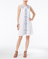 Style&Co. Style & Co Embroidered Shift Dress, Only at Macy's
