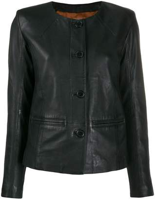 S.W.O.R.D 6.6.44 button up leather jacket
